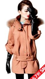 【原价597 疯抢价399】 2011新款冬装毛呢外套 羊毛呢大衣 女