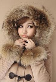 CICI-SHOP 日系甜美学院风牛角扣毛帽毛袖短款呢外套996