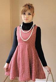 CICI-SHOP 日系田园风波点背心打底连衣裙983